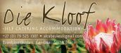 DIE KLOOF SELF CATERING ACCOMMODATION